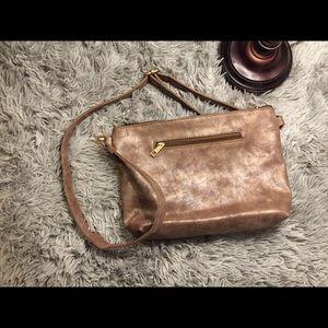 Gorgeous Metallic Brown Crossbody bag